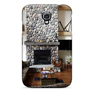 Faddish Phone Cabin Livingroom With A Fireplace Case For Galaxy S4 / Perfect Case Cover
