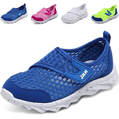 Image of WALUCAN Boys and Girls Water Shoes Breathable Mesh Running Shoes Anti-Slip Sneakers (Little/Big Kids)