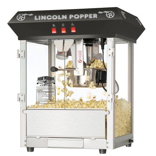 Black Bar Style Lincoln Antique Popcorn Machine