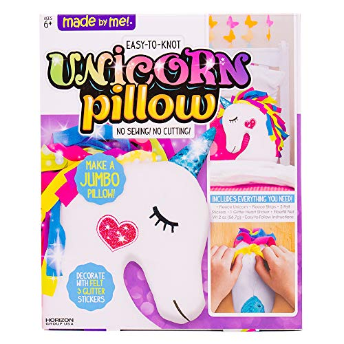 Made By Me Make Your Own Unicorn Pillow by Horizon Group USA, Unicorn Shaped, Assorted ()