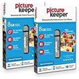 Smart USB Flash Drive 8GB - Picture Keeper Desktop Photo Backup Device for PC and MAC Laptops and Computers (2-Pack Bundle)