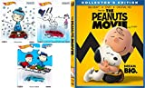 DVD : The Peanuts Movie - Blu Ray DVD Peanuts Hot Wheels Charlie Brown Christmas Set Collectible Pop Culture Cars / Lucy / Linus Holiday Cartoon Series Movie Combo Family Bundle Snoopy & Gang kid fun set