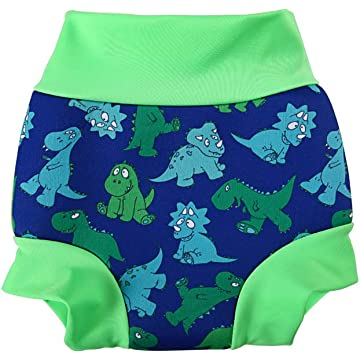 CTSC Swim Diapers Reusable Swim Diaper - Baby Water Swimming Nappy for Boy & Girl (Blue, 3-6Months)