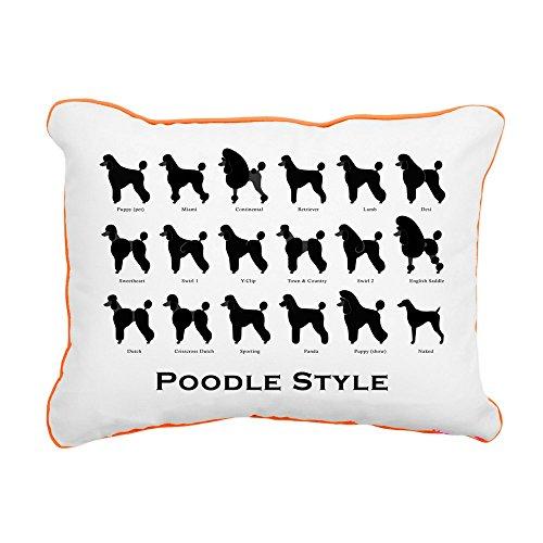 (CafePress - Poodle Pattern Black (Large) Rectangular Canvas Pi - 12