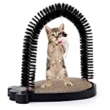 3 In 1 Cute Mouse Cat Toys - Chengyu PET Self-grooming Bristles With Hanging Sound White Mouse And Corrugated Paper Pad For Cat Scratching,Suit For Small Kittens Or Juvenal Kitties