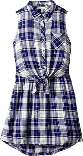 - C&C California Kids Girl's Yarn-Dye Woven Dress (Little Kids/Big Kids) Navy Youth Medium Big/8-10