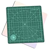 Calibre Art Rotating Self Healing Cutting Mat, Perfect for Quilting & Art Projects, 8x8 (7'' grids)