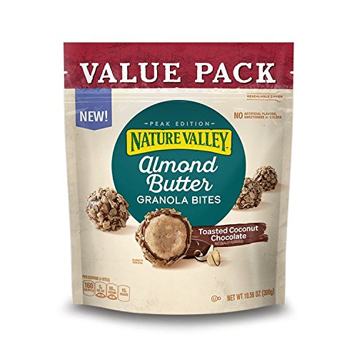 Toasted Almond Butter - Nature Valley Almond Butter Toasted Coconut Chocolate Granola Bites 10.59 Ounce