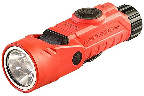 Streamlight 88901 Vantage 180 Helmet/Right-Angle Multi-Function Flashlight, Orange - 250 Lumens