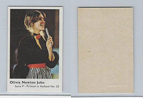 (1970 Dutch Gum, Music Artists Mini Card, Series P, 23 Olivia Newton John, ZQL)
