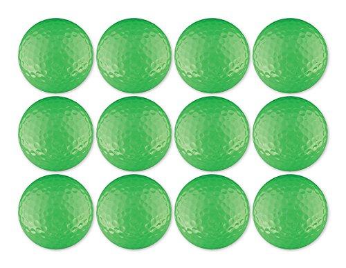 Golf Ball 12-Pack Neon Green Blank ()