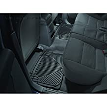 WeatherTech W20 All-Weather Trim-to-Fit Rear Rubber Mats, Black
