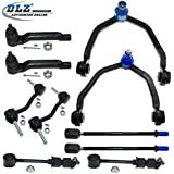 DLZ 10 Pcs Front Suspension Kit-2 Upper Control Arm Ball Joint Assembly 2 Inner 2 Outer Tie Rod End 2 Sway Bar for 1993 1994 1995 1996 1997 Ford Thunderbird Mercury Cougar