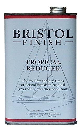 Bristol Finish Traditional Amber Urethane Varnish, 32oz reducer for bristol finish
