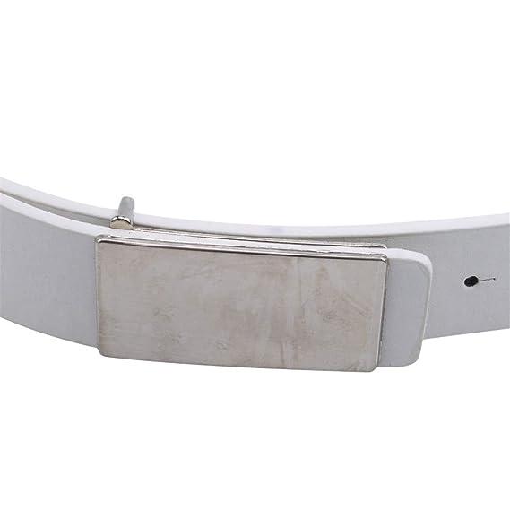 LZIYAN Man Flat Buckle Belt Jeans Belt Waistband Formal Wear Decoration Accessories for A Gentleman,White