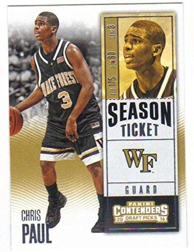2016-17 Panini Contenders Draft Picks Season Ticket #18 Chris Paul Wake Forest Demon Deacons Collegiate Basketball Card