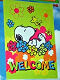 "Snoopy & Woodstock "" WELCOME "" Spring Flag"