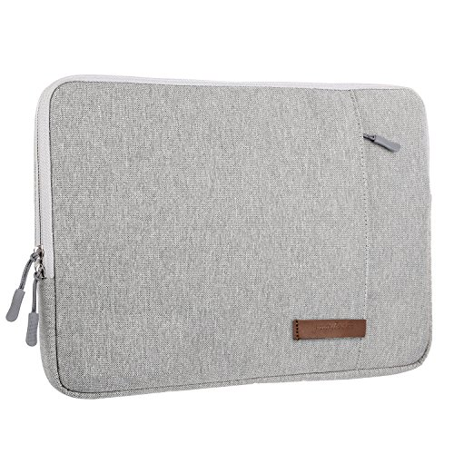 Guaiboshi Drop-proof Laptop Sleeve for 13 - 13.3 Inch MacBook Air / MacBook Pro / 12.9 Inch iPad Pro, 360° Protective Chromebook Notebook Tablet Case, Spill-Resistant Laptop Bag Cover Pocket, Gray