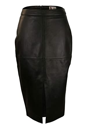 Zerimar Falda de Piel Mujer | Falda Mujer | Falda Larga Mujer ...