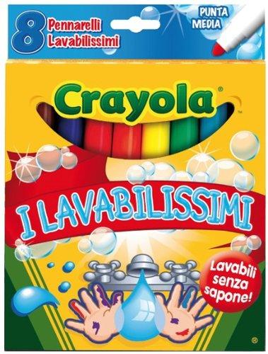 CRAYOLA - 8 Colori Fibra I Lavabilissimi Binney & Smith Italy 7863