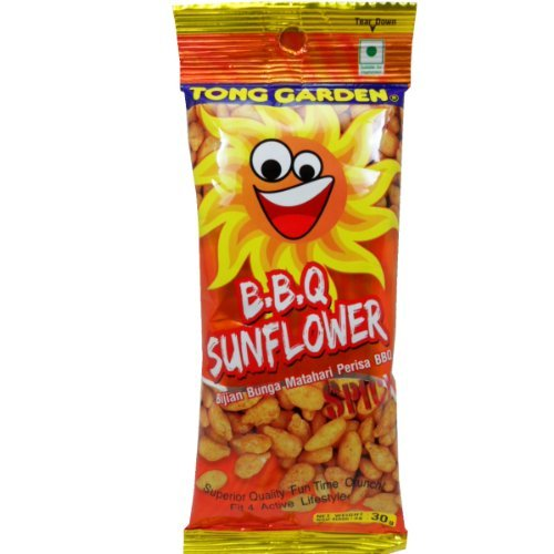 Tong Garden Snack Sunflower Seed Barbecue Flavor Net Wt 30g (1.0 Oz.) X 6 Bags