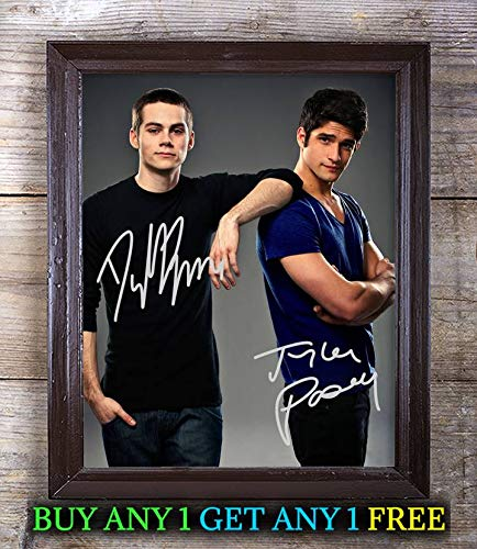 Dylan O'Brien & Tyler Posey Teen Wolf Autographed Signed 8x10 Photo Reprint #29 Special Unique Gifts Ideas Him Her Best Friends Birthday Christmas Xmas Valentines Anniversary Fathers Mothers ()