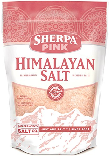 Extra Salt - Sherpa Pink Gourmet Himalayan Salt, 5lbs Extra-Fine Grain. Incredible Taste. Rich in Nutrients and Minerals To Improve Your Health. Add To Your Cart Today.