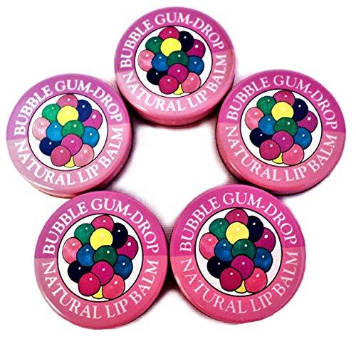 Candy Kisses Natural Lip Balm 5 Piece Bubblegum Flavor
