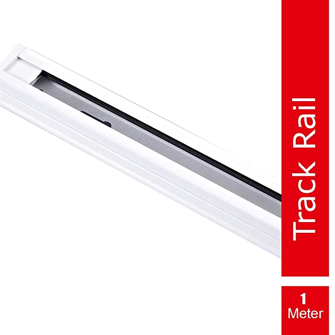 iMee LED Trackline with Connector, 1 Meter trackway for Track Lights, White (1 x 1 Meter)