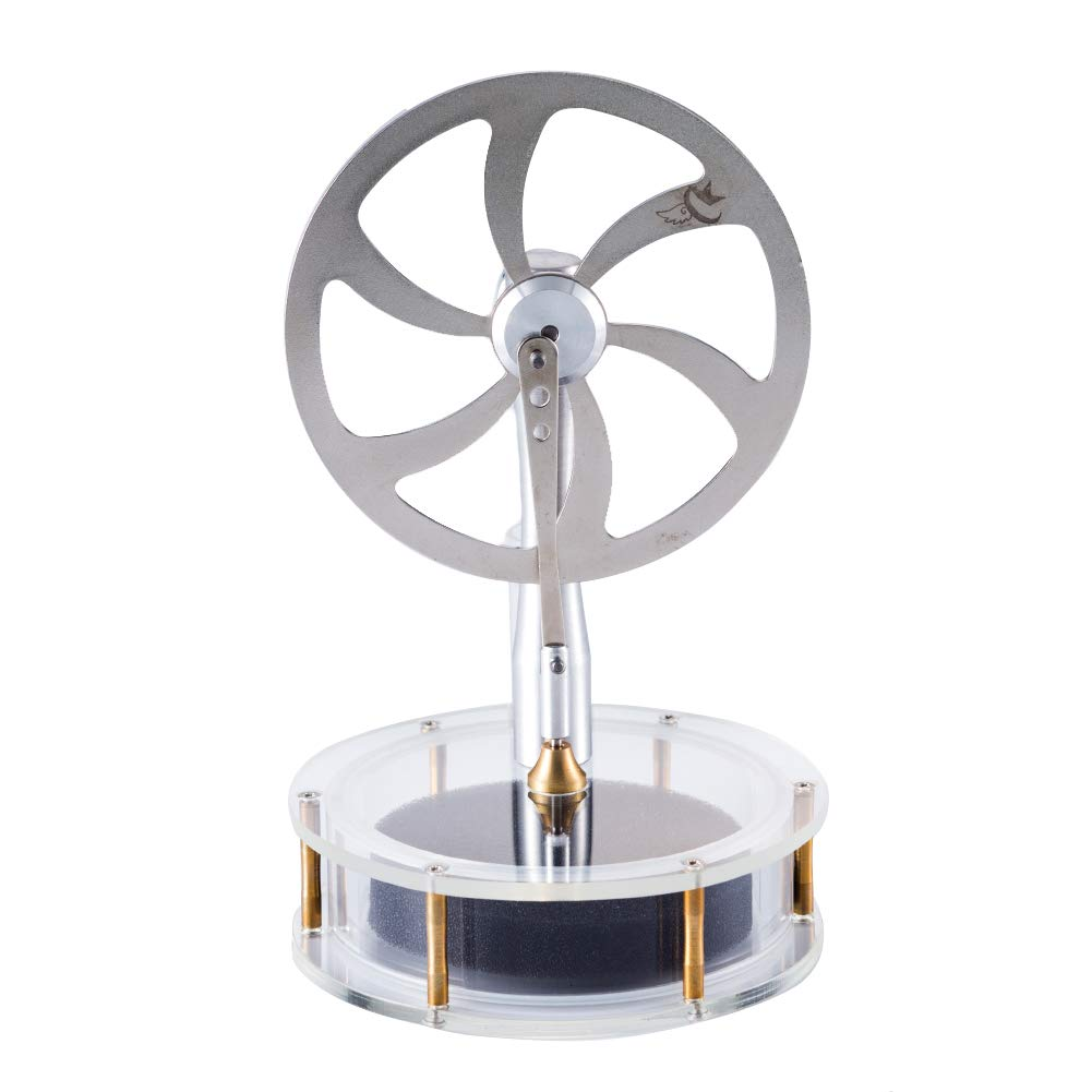 At27clekca Low Temperature Stirling Engine Stainless Steel Motor Steam Heat Education Model Toy Kit by At27clekca (Image #2)