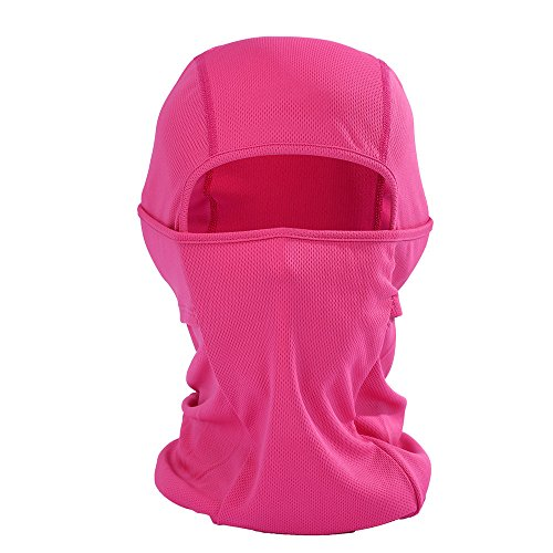 (Glumes Face Mask Windproof Sun Dust Protection| Solid Color Design|Durable Face Mask|Bandana Face Shield|Motorcycle Fishing Hunting Cycling (Hot pink))