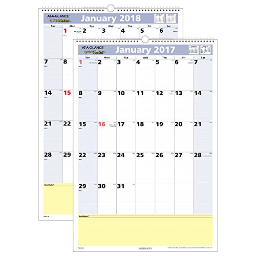 AT-A-GLANCE Wall Calendar 2017, Monthly, QuickNotes, 15-1/2 x 22-3/4