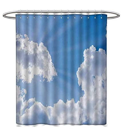 Landscape Shower Curtain Collection Sun Rays Breaking Through The Clouds Artistic Atmosphere Nature Scenery Picture Satin