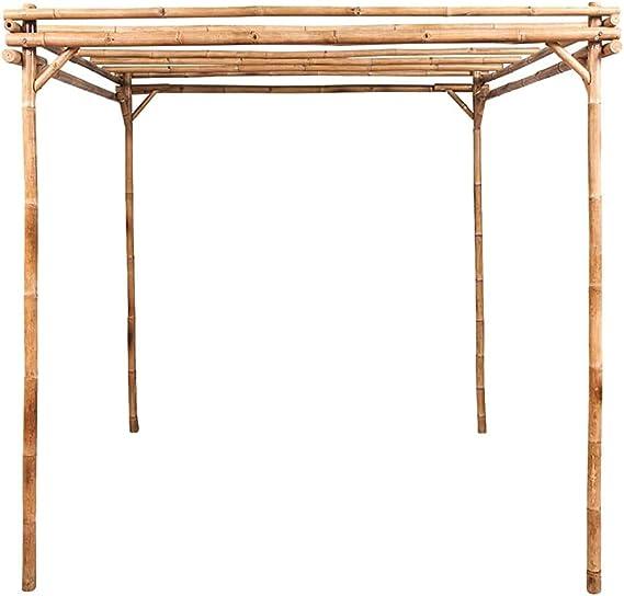 Pergola estable y duradera decorativa mirador al aire libre jardín inclinado a los jardineros de siembra de bambú arco pasillo de entrada cochera,A: Amazon.es: Hogar