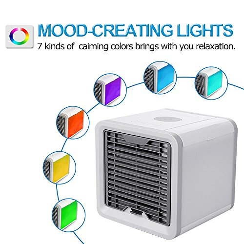 Air Conditioner Portable Air Conditioner Personal Space Air Cooler Mini Portable Space Air Conditioner, Portable Space Cooler for 45 Square Feet, Desk Table Fan for Office Home Outdoor by PLZ (Image #7)
