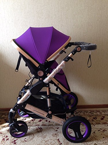 0--36 months baby stroller 2 in 1 stroller lie or damping folding light weight Two-way use four seasons (2)