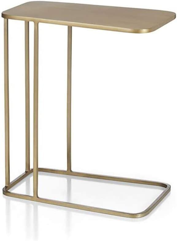 XIAOLIN 金属ソファサイドエンドテーブル、C型北欧ゴールドコーナーテーブルコーヒーテーブルリビングルームベッドサイドテーブル