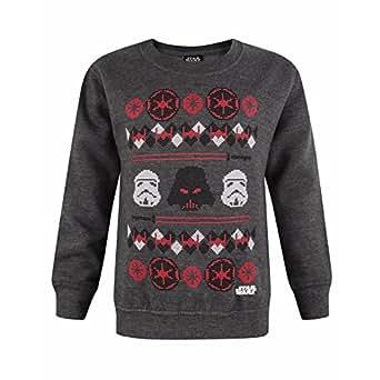 Star Wars - Sudadera/Jersey Oficial Modelo Darth Vader Fairisle para niños: Amazon.es: Ropa y accesorios