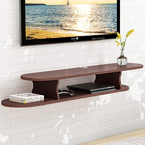 Tribesigns 2 Tier Modern Wall Mounted Floating TV Shelf Medi