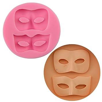 Z@SS Máscara DIY grado silicona fondant pastel molde para hornear decoraciones 3pcs: Amazon.es: Hogar