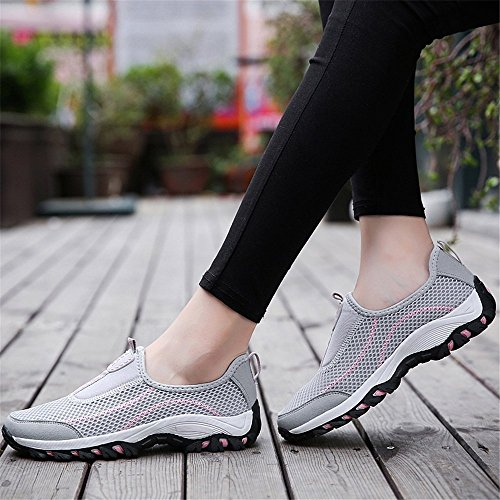 for Lightweight Comfortable Grey1 Mesh FZDX Casual Shoes 69 Breathable Men Shoes ZERq7