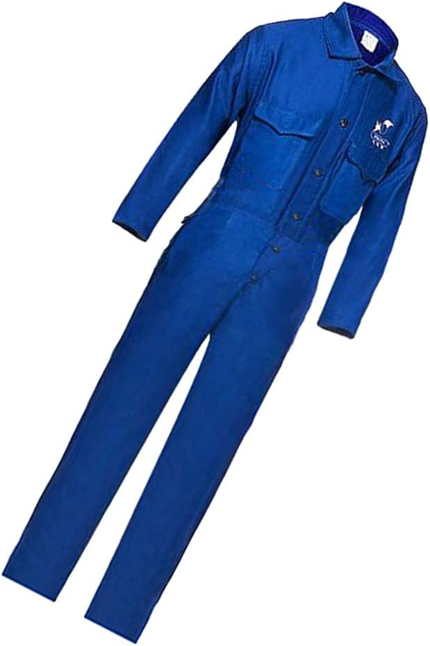 L Blue Gazechimp 1~Set Welders Coverall Protective Clothing Suit Safety Flame Resistant