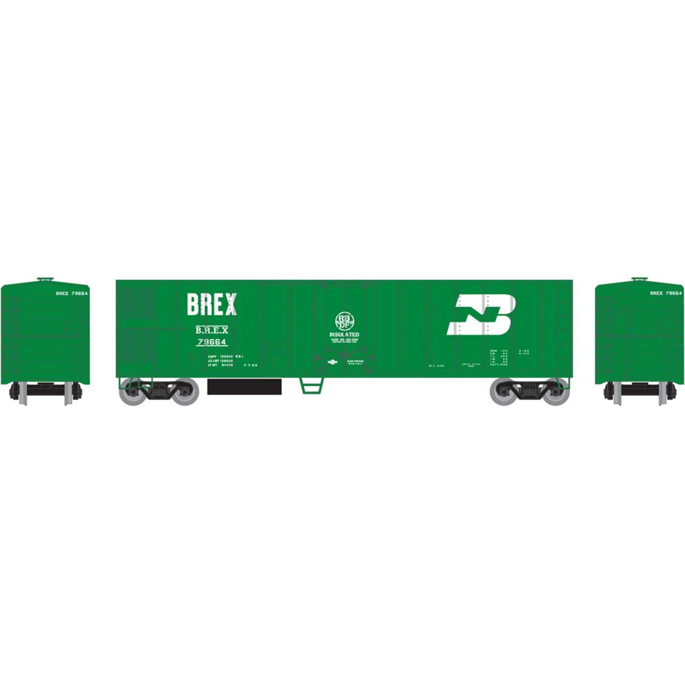 Athearn HO 50' Smooth Side Mechanical Reefer BREX #79664, RND71670