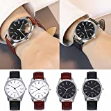 Mens Leather Watch,POTO Clearance Simple Analog Quartz On Sale Alloy Dress Wrist Watch Round Gift Watches RY-703