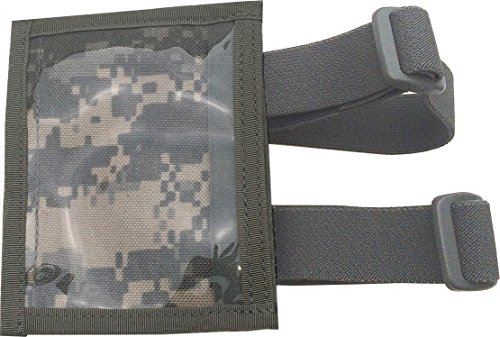 Fire Force Military Armband ID Holder Badge Holder with 2 straps Made in USA (ACU Camo) (Military Small Arms)