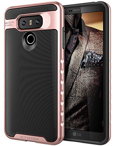 LG G6 Case, E LV LG G6 - Hybrid [Scratch/Dust Proof] Armor Defender Slim Shock-Absorption Bumper Case for LG G6 (2017) - [BLACK/ROSE GOLD]