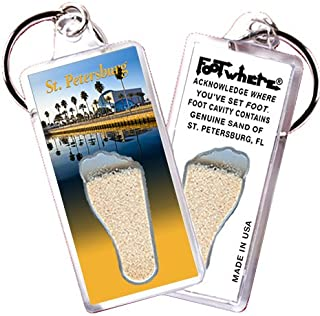 """product image for St. Petersburg, FL """"FootWhere"""" Key Chain. Made in USA (StP102 - Museum)"""