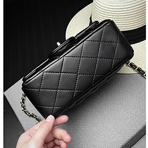 Evening Red 20 Women Quilted Chain Small Clutch Handbag 7cm 14 Body Gold Shoulder Rose Mini Classic Bag Cross Bag qHB7Bw