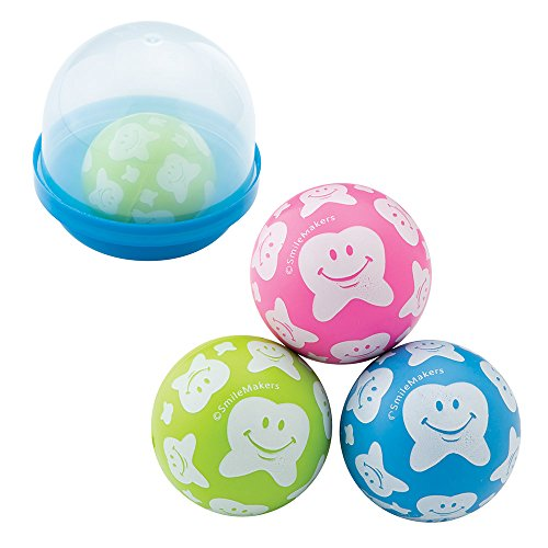 SmileMakers Happy Tooth Scatter Print Bouncing Balls in 2'' Capsules - Capsule Toy Prizes 250 per Pack by SmileMakers (Image #2)