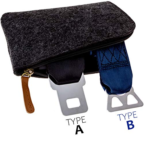 - Airplane Seatbelt Extenders Premium 2 Pack for All Airlines | Type A Universal | Type B Southwest | 2019 Upgraded Colors & Bonus Felt Travel Case Zipper Pouch for Safe Discreet Storage | by journeyxl